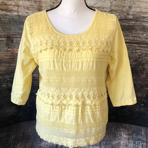 🛍 5/$30 Kim Rogers yellow blouse